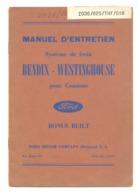 Manuel D'entretien - Système De Frein BENDIX - WESTIGHOUSE Pour Camion FORD - Oldtimer, Pmécanique Automobile,... (b259) - Auto