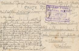 NERIS LES BAINS  ALLIER -  HOPITAL MIXTE THERMAL - CROIX-ROUGE - 30/8/16 - WW1 - 1877-1920: Période Semi Moderne