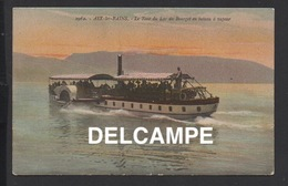 """DD / BATEAU À AUBE """" LES PARIS """" SUR LE LAC DU BOURGET , TRANSPORT DE PASSAGERS / ANIMÉE / 1915 - Barche"""