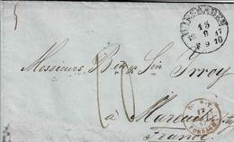 Lettre En Français De Wiesbaden Pour Mareuil Sur Ay, Cachet Rouge D'entrée De Tour Et Taxis  Par Forbach - [1] ...-1849 Préphilatélie