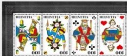 Suisse Helvetia 2478/81 Jeux De Cartes, Roi, Reine - Jeux