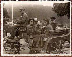 Petite Photo Originale Déguisement & Eisbär, Ours Blanc Polaire & Calèche Du III Reich à Zakopane Pologne 06.10.1940 - Anonymous Persons