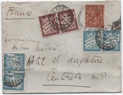 Ensemble 2 Lettres Angleterre 1928 Même Affranchissement TAXE Au Double + Taxe Simple Car Réexpédition ! - Segnatasse