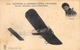 "AVIATION - MEETING - ""SOUVENIR DES GRANDES FETES D'AVIATION"" - LYON 1910 - GARROS - Meetings"