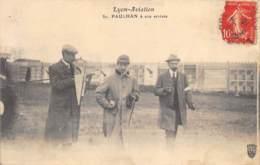 "AVIATION - MEETING - ""LYON AVIATION"" 1910 - PAULHAN A SON ARRIVEE - Meetings"