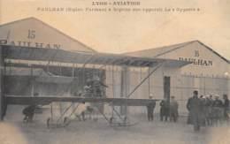 "AVIATION - MEETING - ""LYON AVIATION"" 1910 - PAULHAN ( BIPLAN FARMAN ) A BAPTISE SON APPAREIL LE ""GYPAETE"" - Meetings"