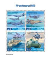 Maldives  2019 NATO  Tank ,helicopter , Military Aircrafts, Aircraft Carrier  S201907 - Maldives (1965-...)