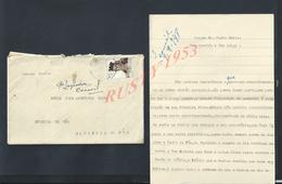 PORTUGAL LETTRE SUR TIMBRE POUR Mr LE CURÉ ( PADRE ) DE CERDEIRA DO CÔA OU CABREIRA DO CÔA : - Lettres & Documents