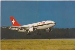 Cartoline Mezzi Di Trasporto -aerei- Swissair Airbus A310 Europe - 1946-....: Era Moderna