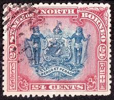 NORTH BORNEO 1897 24 Cents Blue & Lake SG109 Cancelled - Borneo Del Nord (...-1963)