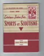 Catalogue De Timbres-Poste Sports Et Scoutisme Clément Brun 1960 - Francia