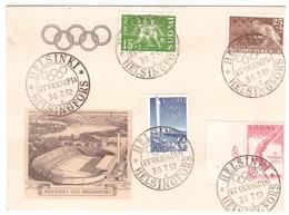 Finnland, 1952, Olymp. Spiele - Briefe U. Dokumente