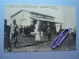 EST AFRICAIN ALLEMAND, Occupation BELGE : LULANGURU, La Gare - Autres