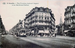 Bruxelles - Place Fontainas - Boulevard Anspach - Arrêt Du Tram 53 - Avenues, Boulevards