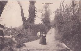 CPA - 21. DE GRANVILLE A CHERBOURG - BREVILLE - Le Petit Chemin - Granville