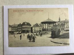 BRAINE LE COMTE  1909  VUE GENERALE DE LA GRAND PLACE      TRES BELLE ANIMATION - Braine-le-Comte
