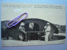 EST AFRICAIN ALLEMAND, Occupation BELGE : Les Canons Défendant La KALEMIE (CONGO BELGE) En 1919 - Autres