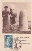Carte Maximum - La Borne - Voie De La Liberté -  Timbre N° 788 - 1947 - Cartes-Maximum