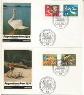 ALEMANIA FDC BONN 1972 INFANCIA FAUNA ANIMAL - Infancia & Juventud