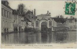 02 Soissons Inondations 1910 Hotel Des Ventes Et  Rue De Saint Quentin - Soissons