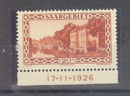 Saar  Michel #  110 **  UR Mit Druckdatum 17-11-1926 - 1920-35 Saargebiet – Abstimmungsgebiet