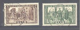 Saar  Michel #  299 - 300  Volkshilfe - 1920-35 Saargebiet – Abstimmungsgebiet
