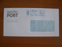 EMA Sur Enveloppe  MB 625510 NANTES Avec Illustration  PORT NANTES ST NAZAIRE - EMA (Printer Machine)