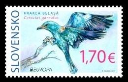 Slovakia 2019 Mih. 869 Europa. National Birds. Fauna. European Roller MNH ** - Slovaquie