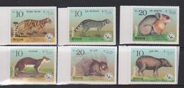 NEPAL, 2018, MNH,FAUNA, CIVETS, FELINES, PORCUPINES,SQUIRRELS, 6v - Rhinoceros