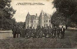 CPA RARE COLLEGE DE BARBEZIEUX GROUPE D'ELEVES EN EXCURSION A SAINT MAIGRIN - France
