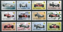 San Marino 1998 / Ferrari Racing Cars MNH Coches De Carrera Autos / Cu3433  18-23 - Coches