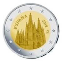 Spanje   2012   2 Euro  Commemo Kathedraal Van Burgos      UNC Uit De Rol  UNC Du Rouleaux  !! - Espagne
