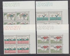 Liechtenstein 1988 Olympische Sommerspiele Seoul 4v Bl Of 4 (corners) ** Mnh (44312) - Liechtenstein