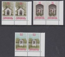 Liechtenstein 1988 Chapels 3v (pair, Corners) ** Mnh (44312B) - Liechtenstein