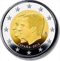 Spanje 2014     2 Euro Commemo   Troonwissel - Changement Du Trône   UNC Uit De Rol  UNC Du Rouleaux  !! - Espagne