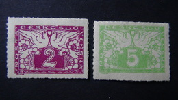Czechoslovakia - 1919 - Mi:CS 11-2 - Yt:CS J9-10,**MNH - Look Scan - Tschechoslowakei/CSSR