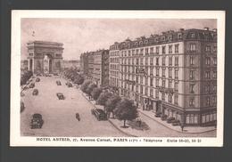 Paris - Hôtel Astrid, Avenue Carnot - Confirmation De Réservation - 1949 - Pubs, Hotels, Restaurants