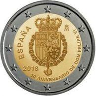 Spanje 2018   2 Euro Commemo  Koning Felipe VI- Roi Felipe VI  EXTREME RARE !!!!!UNC Uit De Rol  -  UNC Du Rouleaux !!!! - Espagne