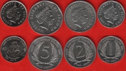 East Caribbean States Set Of 4 Coins: 1 - 10 Cents 2004-2008 UNC - Ostkaribischer Staaten