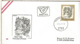 AUSTRIA FDC 1977 PERNITZ MYRAFALLE CASCADA WATERFALL - Geología