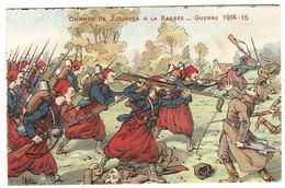 MILITARIA - GUERRE 1914-15 - Charge De Zouaves à La Bassée - Carte Illustrateur - Ed. E. Martignier, Nancy - Weltkrieg 1914-18