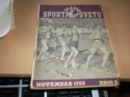 30 Dana Sporta U Vetu 1950 Atletics, Football  Engleska  Jugoslavija  London Box  Luis  Carls ... Stadium Helsinki .80 P - Unclassified