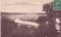 37-MONTLOUIS- LA VALLÉE DE LA LOIRE ET LE PONT DU CHEMIN DE FER - France