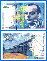 France 50 Francs 1993 Serie X Que Prix + Port Avion Bi Plan Saint Exupery Frcs Frc Paypal Bitcoin OK - 1992-2000 Laatste Reeks