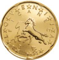 Slovenie 2007   20 Cent    UNC Uit De Rol  UNC Du Rouleaux  !! - Slovénie