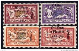 Grand Liban P. A. N° 5 / 8  X  La Série Des 4 Valeurs  Trace De  Charnière Sinon TB - Great Lebanon (1924-1945)