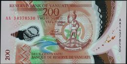 VANUATU - 200 Vatu 2014 {Prefix AA} {Polymer} UNC P.12 - Vanuatu