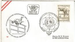 AUSTRIA FDC 1973 ENTRENAMIENTO MILITAR DEPORTE - Militares