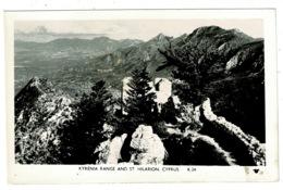 Ref 1324 - Real Photo Plain Back Card - Kyrenia Range & St Hilarion - Cyprus - Cyprus