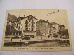 C.P.A.- Saint Gingolph (74) - Lac Léman - Les Hôtels Suisses - Hôtel Belle Vue - 1937 - SUP (CK 61) - France